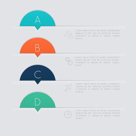 the diagram: Vector colorido cuadro de texto, colores de moda Vectores