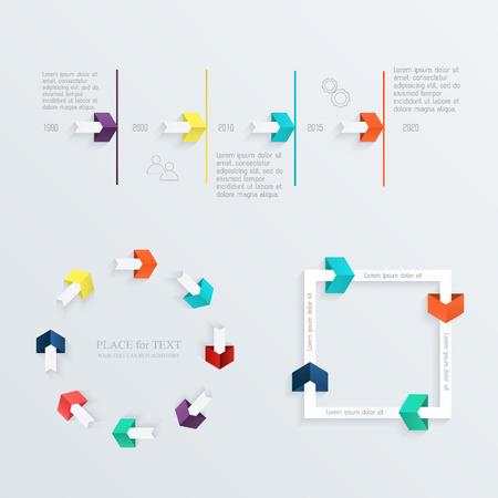 timelines: Minimal infographics design set.