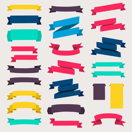 fond de texte: Ensemble d'éléments de conception bannières rubans.