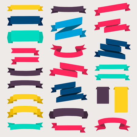Set of design elements banners ribbons. Zdjęcie Seryjne - 36766546
