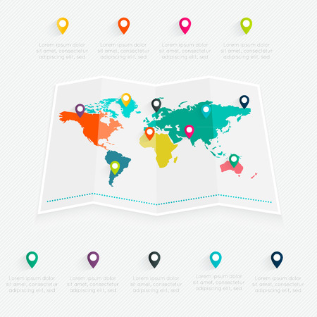 wold map: Map info graphic.