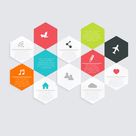 graphic design: Vector colorful info graphics for your business presentations. Illustration