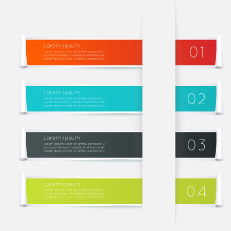 Vector colorful text box, trendy colors. Vector