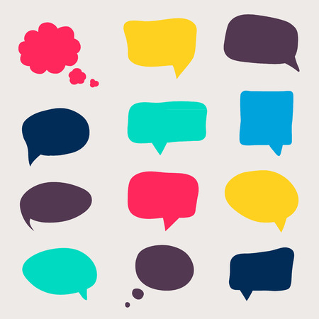 to think: Colorful questions speech bubbles.