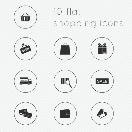 Modern flat icons vector collection of shopping theme. Illustration
