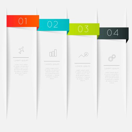 graficas: Vector colorido cuadro de texto, colores de moda.