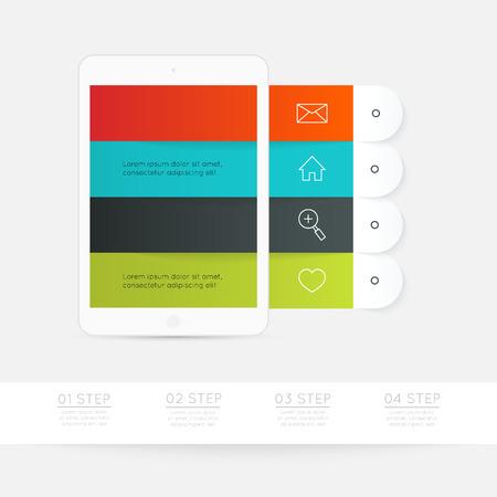timelines: Minimal infographics design.