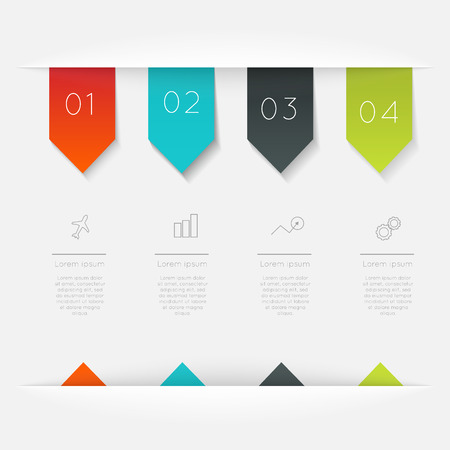 set template: Vector colorful info graphics for your business presentations.