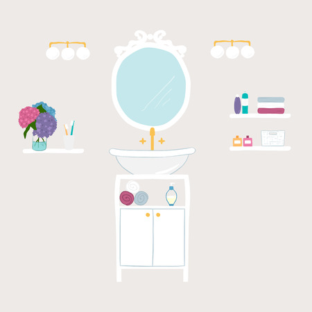 personal hygiene: Set of vector bathroom and personal hygiene icons  Illustration