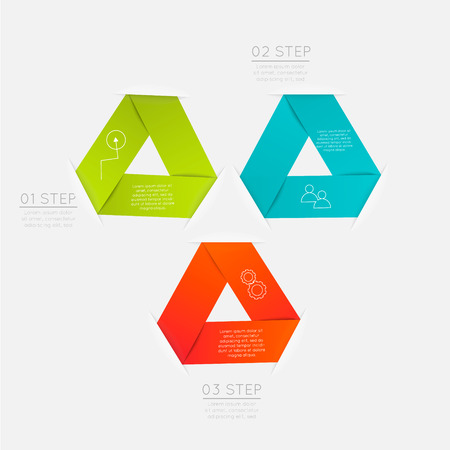 trendy: Vector colorful text box, trendy colors.