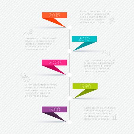 plantilla: Plantillas de Diseño de Infografía de línea de tiempo. Los gráficos, diagramas y otros elementos vectoriales para Datos y estadísticas Presentación