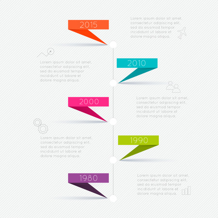 layout: Timeline Infographic Design Templates. Charts, Diagrams and other Vector Elements for Data and Statistics Presentation