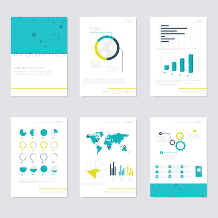 business style: Set of infographics elements in modern flat business style. Illustration