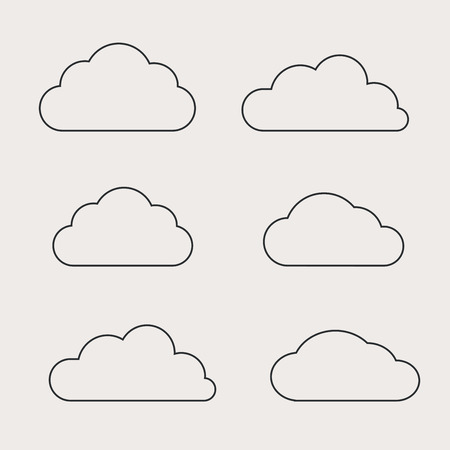 Cloud shapes collection. Cloud icons for cloud computing web and