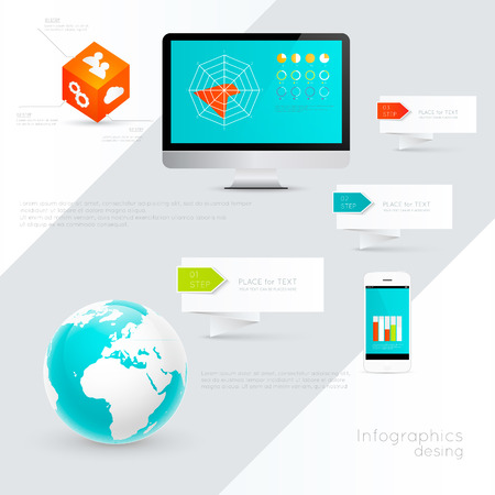 IT Industry Infographic Elements.  Vector