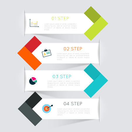 Vector colorful info graphics for your business presentations. Illustration