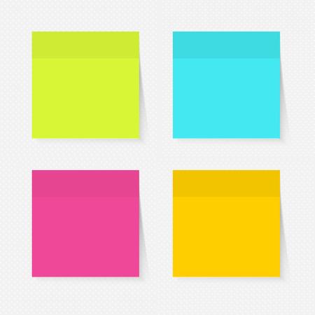 Color sticky notes set
