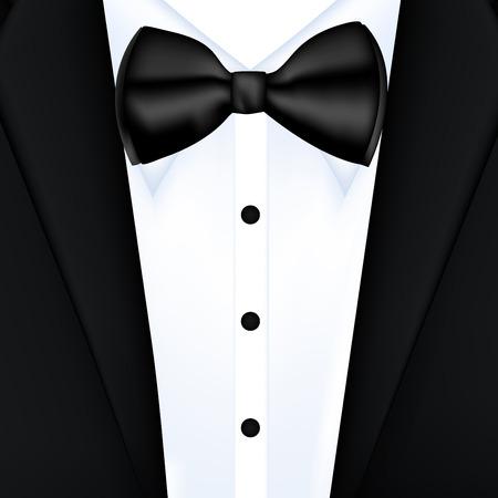 Tuxedo background with bow