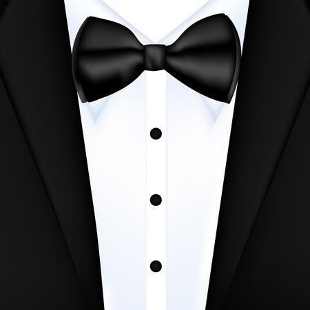 Tuxedo background with bow