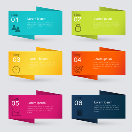 web graphics: Vector colorful info graphics for your business presentations.