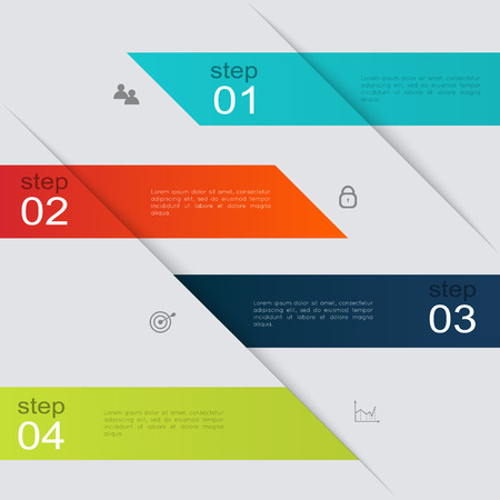 graphic: Vector colorful info graphics for your business presentations. Illustration