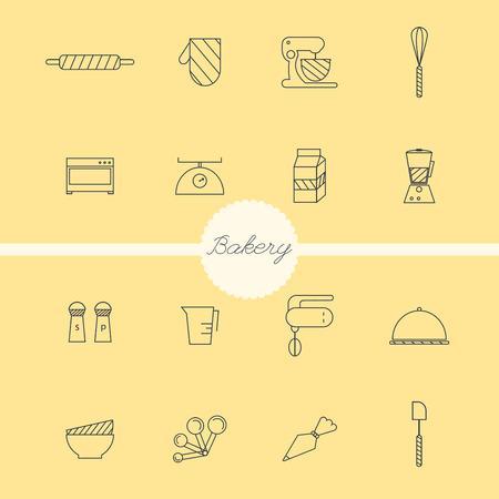 coffee sack: Bakery set vector.