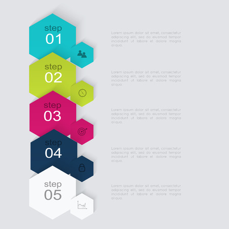 text boxes: Vector colorful info graphics for your business presentations. Can be used for info graphics, graphic or website layout vector, numbered banners, diagram, horizontal cutout lines, web design.