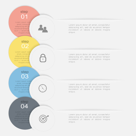 graphics design: Vector colorful info graphics for your business presentations. Can be used for info graphics, graphic or website layout vector, numbered banners, diagram, horizontal cutout lines, web design.