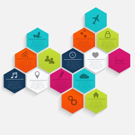 Vector bunte Info-Grafiken für Ihre Business-Präsentationen. Kann für Infografiken, Grafik oder Layout der Website Vektor, nummeriert Banner, Diagramm, horizontal Ausschnitt Linien, Web-Design verwendet werden.