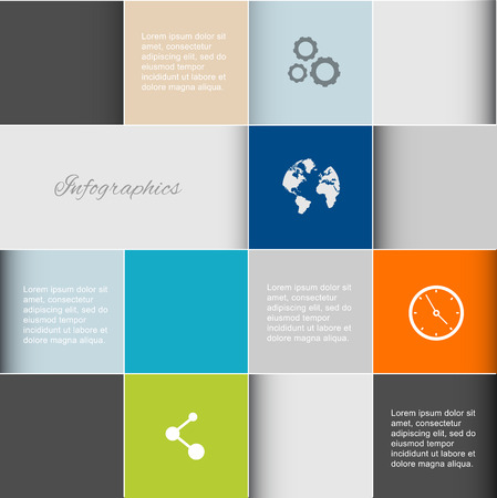 web graphics: Vector colorful info graphics for your business presentations. Can be used for info graphics, graphic or website layout vector, numbered banners, diagram, horizontal cutout lines, web design.