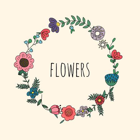coronas de navidad: Guirnaldas florales. Plantilla para la boda, día de madres, cumpleaños, invitaciones.