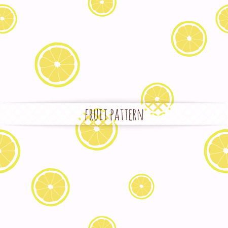 Hand drawn lemons. Seamless pattern. Ilustração