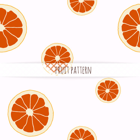 grapefruit: Hand drawn grapefruit. Seamless pattern. Illustration