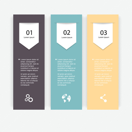 text box design: Vector colorful info graphics for your business presentations. Can be used for info graphics, graphic or website layout vector, numbered banners, diagram, horizontal cutout lines, web design.
