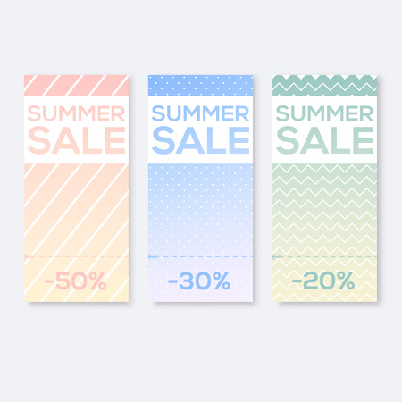 coupon: Collect Sale Signs with Tear-off Coupon, vector illustration Illustration