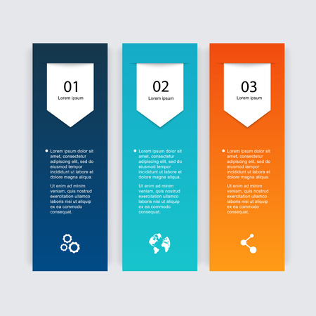 Vector colorful info graphics for your business presentations. Can be used for info graphics, graphic or website layout vector, numbered banners, diagram, horizontal cutout lines, web design. Vector