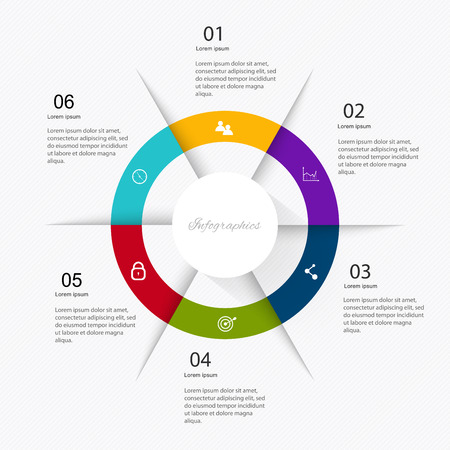 Business data market elements dot bar pie charts diagrams and graphs flat icons set. Can be used for info graphics, graphic or website layout vector, numbered banners, diagram. Vector illustration. Illusztráció
