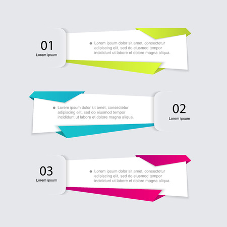 web layout: Vector colorful info graphics for your business presentations. Can be used for info graphics, graphic or website layout vector, numbered banners, diagram, horizontal cutout lines, web design.
