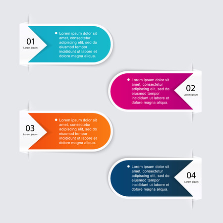 infographic: Vector colorful info graphics for your business presentations. Can be used for info graphics, graphic or website layout vector, numbered banners, diagram, horizontal cutout lines, web design.