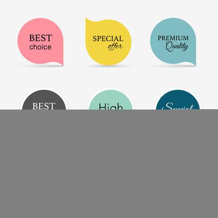 Het verzamelen van promo zegels / stickers. Geïsoleerde vector illustratie Stockfoto - 41059131