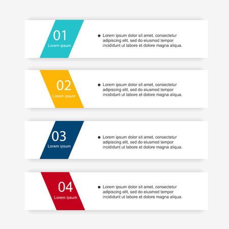 graphic design: Vector colorful info graphics for your business presentations. Can be used for info graphics, graphic or website layout vector, numbered banners, diagram, horizontal cutout lines, web design.