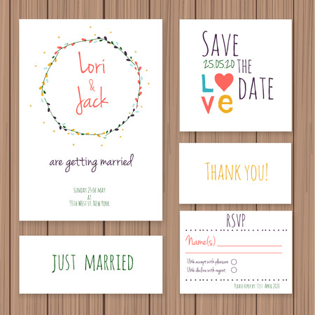 Wedding Invitation Card Set Thank You Card Save The Date Cards – Married Invitation Card