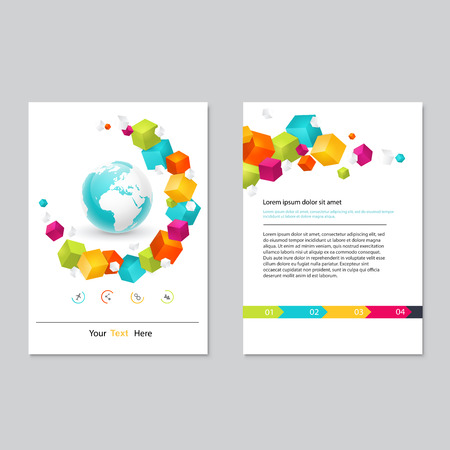 graphic presentation: Vector brochure template design.  Abstract Backgrounds,Flat Infographic Concept.