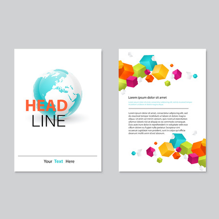 corporate background: Vector brochure template design.  Abstract Backgrounds,Flat Infographic Concept.