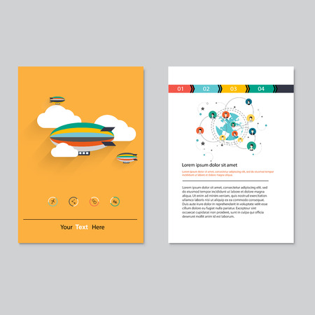 poster designs: Vector brochure template design.  Abstract Backgrounds,Flat Infographic Concept.