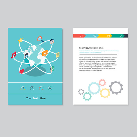 magazine design: brochure template design.  Abstract Backgrounds,Flat Infographic Concept. Illustration