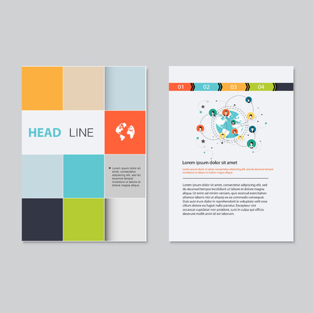 magazine template: brochure template design.  Abstract Backgrounds,Flat Infographic Concept. Illustration