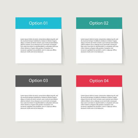 papel de notas: Ilustración de un conjunto de color de las notas adhesivas