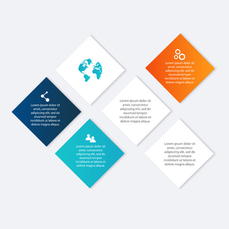 business graphics: colorful info graphics for your business presentations. Illustration