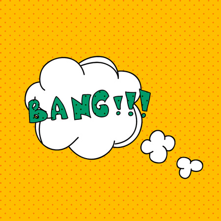 blank bomb: Comics pop art style blank layout template with clouds beams. Concept vector for web and mobile applications.